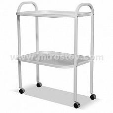 Стол инструментальный двухполочный (полки стекло)
