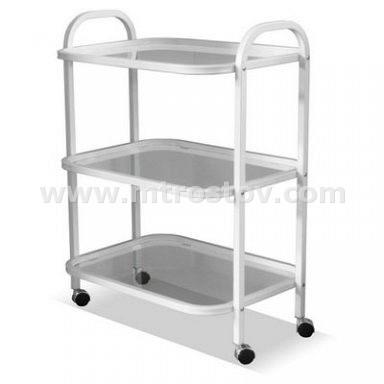 Фото: Стол инструментальный трехполочный Стол инструментальный трехполочный (полки стекло)