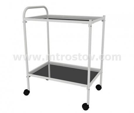 Столик процедурный СПп-01 МСК-501М (полки металл)