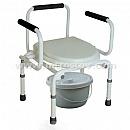 Кресло-туалет с опускающимися подлокотниками CA667 :: Кресло-туалет с опускающимися подлокотниками CA667