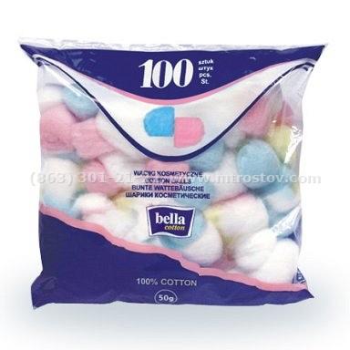 Шарики из ваты цветные Bella Cotton