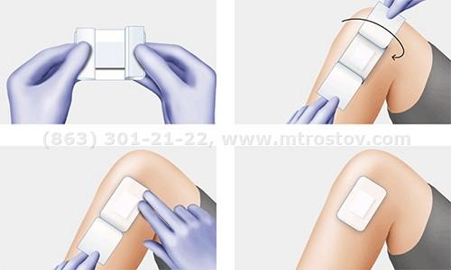 Повязка стерильная самоклеящаяся Cosmopor E 7,2х5см (1уп-50шт)