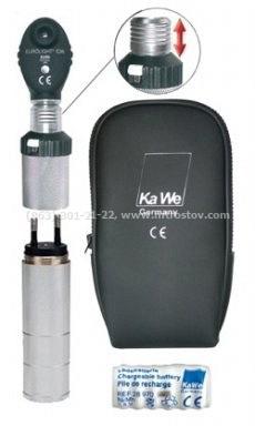 Офтальмоскоп KaWe Евролайт Е36 3,5В (перезаряжается от розетки) Германия :: Офтальмоскоп KaWe Евролайт Е36 3,5В