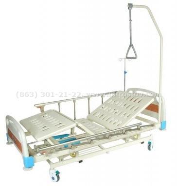 Фото: Кровать медицинская E-31 MM-24 Кровать медицинская E-31 MM-24 с ростоматом и полкой