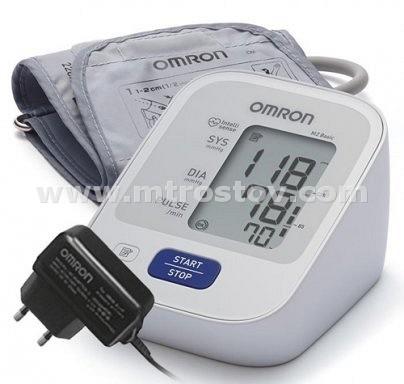 Тонометр автоматический OMRON M2 Basic, адаптер (M) :: Тонометр автоматический OMRON M2 Basic с адаптером