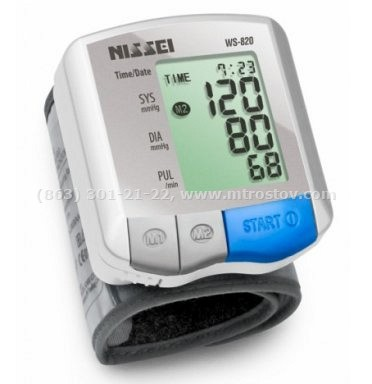 Тонометр автоматический на запястье NISSEI WS-820  :: Тонометр автоматический на запястье NISSEI WS-820