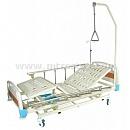 Кровать медицинская E-31 MM-24 с ростоматом и полкой